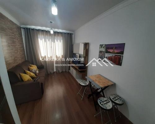 Apartamento A Venda 39 M², 2 Dormitórios, Sala, Cozinha, Banheiro, Área De Serviço, 1 Vaga, Móveis Planejados. Jardim Casa Blanca. - Ap00080 - 68066032