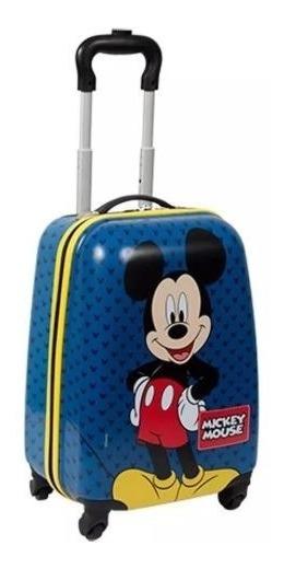 Mala De Rodinha 360 Escolar Infantil Mickey Mouse 19pc