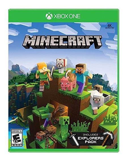 Minecraft + Pacote Exploradores Xboxone Mídia Física Novo Rj