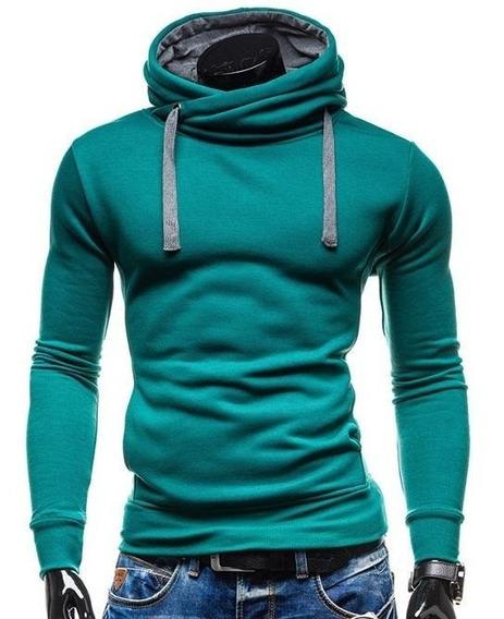 Sweater / Sueter Slim Fit Capucha Cruzada