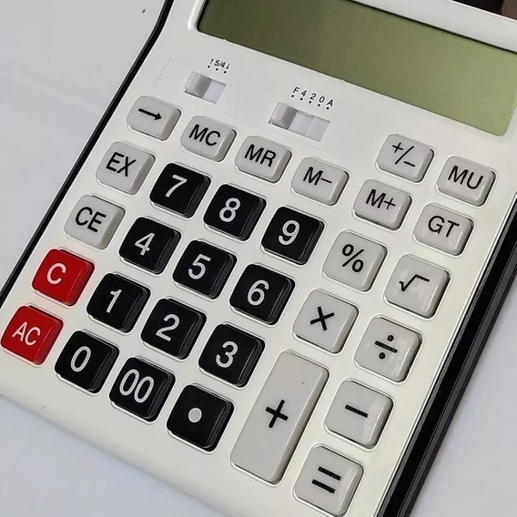 Calculadora 12 Digitos P Mesa C Teclas E Numeros Grandes