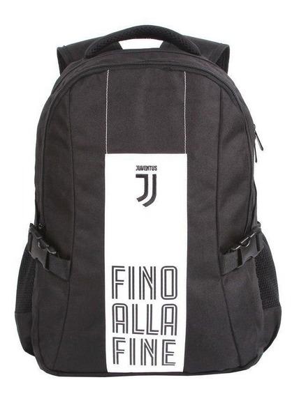 Mochila Juventus Preta E Branca