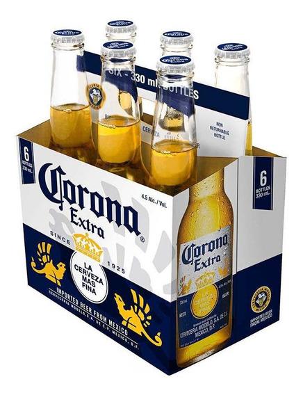 Cerveja Corona Extra Long Neck 330ml Pack (6 Unidades)