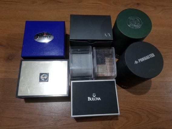 Set De 8 Cajas De Relojes Finos : Rado / Bulova / Tissot