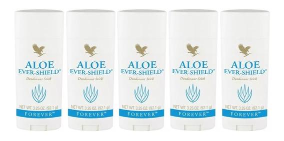 Kit 5 Aloe Ever Shield Forever Desodorante Sem Alumínio