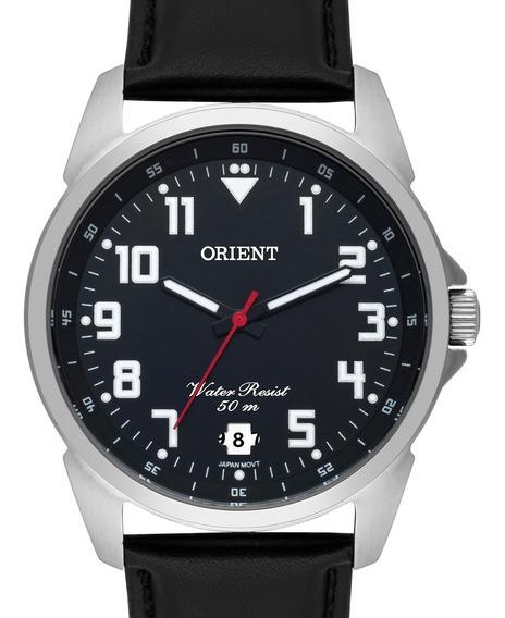 Relógio Orient Masculino Couro Preto - Mbsc1031 P2px