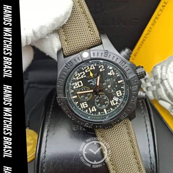 Relógio De Luxo Green Black Dial Militar