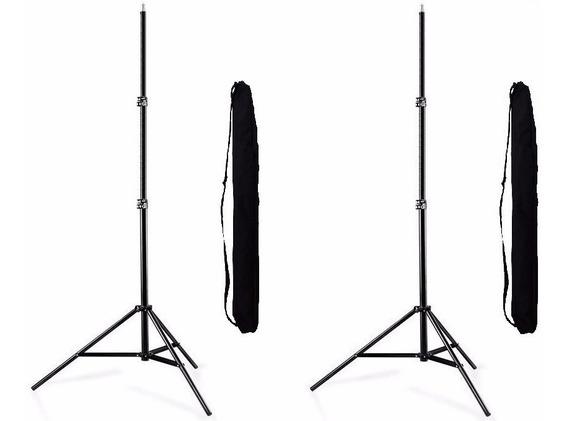 2 X Pedestal Tripé C/bag + 1 Sombrinha + Suporte Flas/somb.