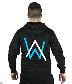 Chamarra Alan Walker Diseño Azul+ Bandana Facial, Faded