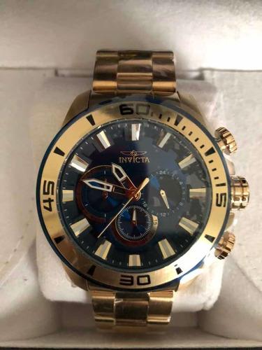 Reloj De Hombre Invicta Edición Especial Dorado $7000
