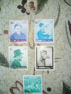 Sellos De Coleccion Antiguos, 6 Postales J.f Kennedy