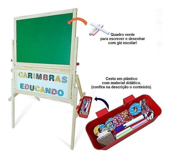 Lousa Magnética Quadro Infantil Brinquedo Educativo Madeira