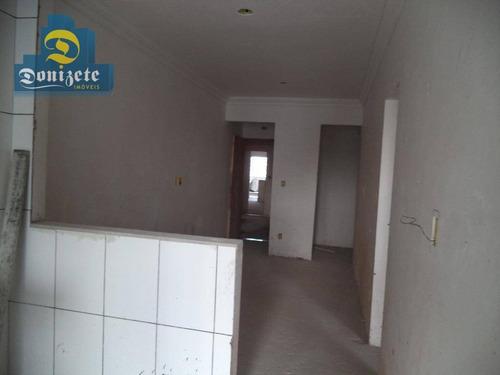 Cobertura Com 2 Dormitórios À Venda, 50 M² Por R$ 475.000,00 - Campestre - Santo André/sp - Co1580