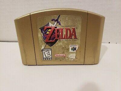 The Legend Of Zelda Ocarina Of Time Gold N64 -------mr game