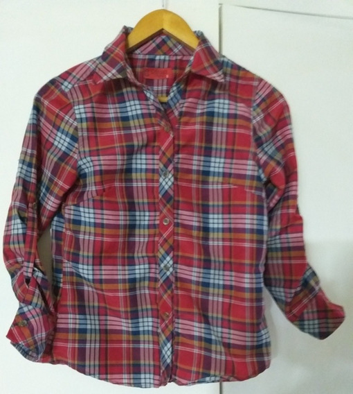 Camisa A Cuadros Mujer Impecable Small Amplio