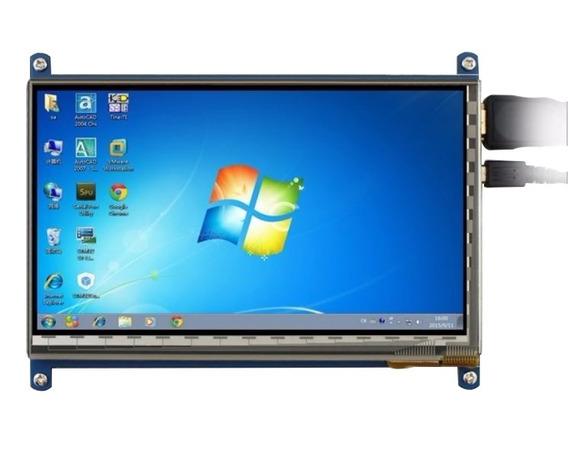 Kit Tela Lcd Touch Screen 7 Polegada 800x480 Para Raspberry - Nota Fiscal