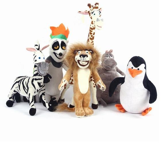Presente Pelúcia Madagascar Com 6 Personagens Pronta Entrega