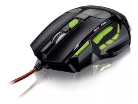 Mouse Gamer Multilaser Barato Usb 7 Botões 2400dpi