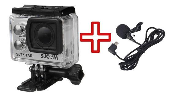 Câmera Sjcam Sj7 Star 4k Original Wifi + Microfone Lapela