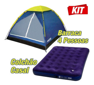 Barraca Iglu 4 Pessoas + 1 Colchão Casal Inflável * Promoção