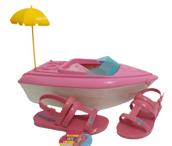 Sandália Barbie Lancha Barco Iate Brinquedo Rosa Promoção
