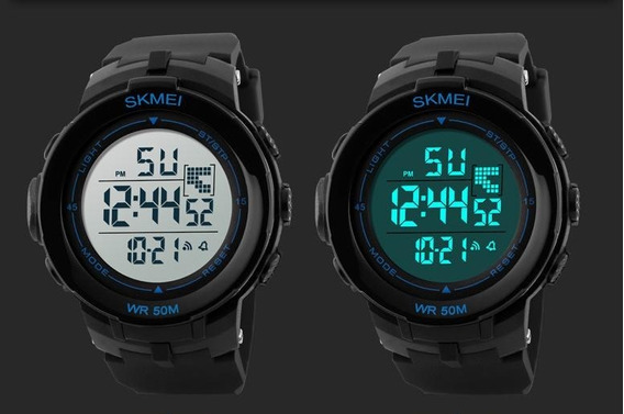 Relogio Skmei Digital Cores Alarm Crono Data Wr50m Promoção