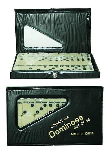 Imagen 1 de 1 de Juego De Mesa Domino Doble 6 Set De 28 Piezas