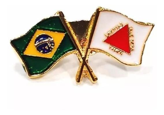 Pim Bótom Broche Bandeira Do Estado De Minas Gerais Folheado