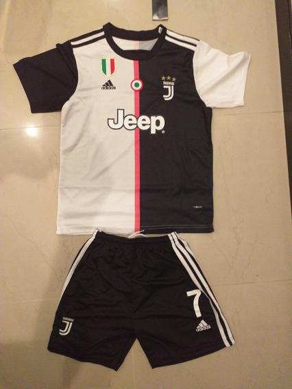 Uniforme O Conjunto Franela Y Short Ronaldo Juventus P/niño