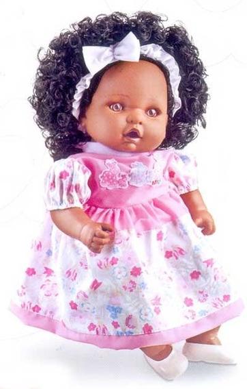 Boneca Com Cabelo Angelina Negra 62 Frases - Milk