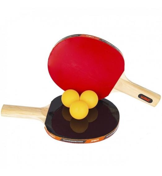 Kit Tênis De Mesa Ping Pong Liveup Com 2 Raquetes 3 Bolinhas
