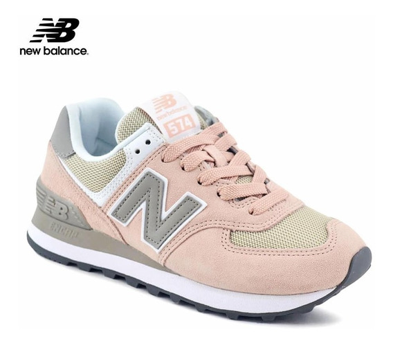 Zapatillas Mujer New Balance Wl574nda 574 Classic Rosas/gris