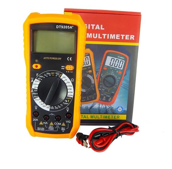 Multimetro Digital Tester Lcd Nuevo Dt-9205a