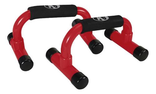 Imagen 1 de 4 de Barras Soporte Para Flexiones Clásica Push Up K6 Rojo