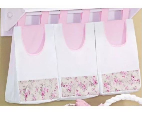 Porta Fraldas 3 Peças - Rosa Estampado