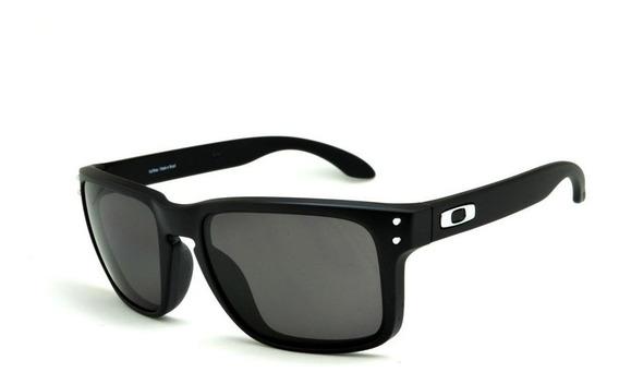 Óculos Sol Oakley Holbrook Preto Masculino +case Ziper