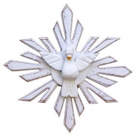 Divino Espírito Santo Madeira (20x20)cm Frete Grátis