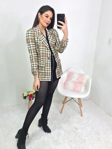Blazer Max Com Detalhe De Laço Nos Bolsos E Manga Casacos