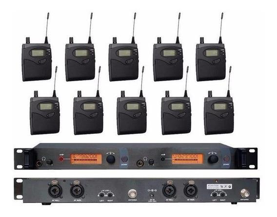 Sistema Monitor Sem Fio Sennheiser Sr2050 Com 10 Bodypack