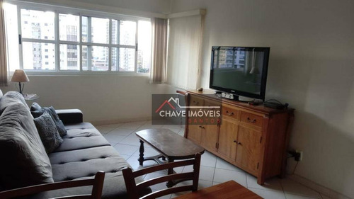 Flat Com 2 Dormitórios À Venda, 57 M² Por R$ 390.000,00 - Gonzaga - Santos/sp - Fl0022