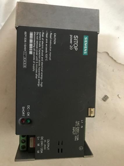 Fonte Chaveada Siemens Sitop Power 20a-24v-6ep1336-1sh01