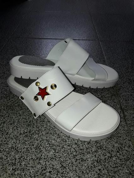 Sandalia Blanca De Mujer