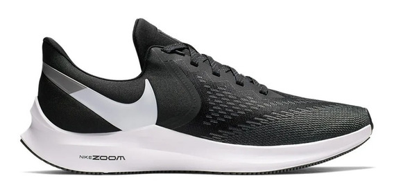 Zapatillas Nike Zoom Winflo 6 Negro Talles Grandes Aq7497001