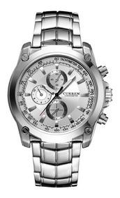 Curren 8025 Quartz Relógio De Pulso Casual Moda Relógio Com