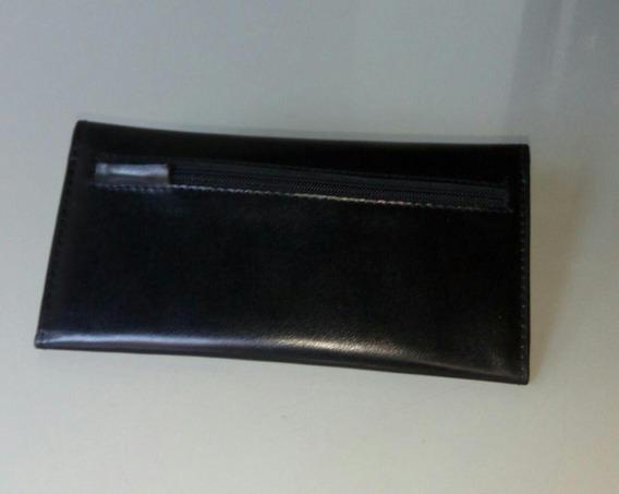 Billetera De Mujer -cuero Ecologico Color Negro -rosenthal