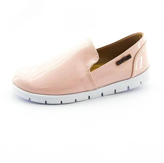 Tênis Tratorado Quality Shoes Feminino 004 Verniz Bege Rosad