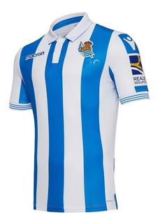 Camisa Real Sociedad 18/19 Unif. 1 - Pronta Entrega