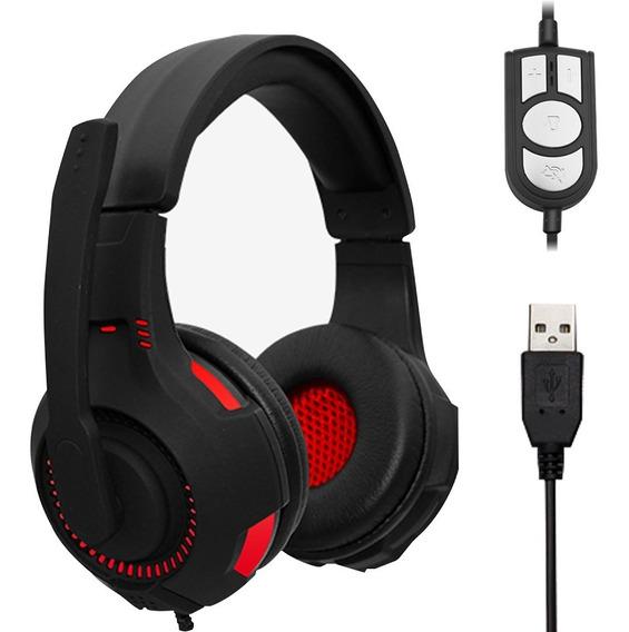Headphone Gamer Jwcom Usb Microfone Pc Not Ps3 Com Led