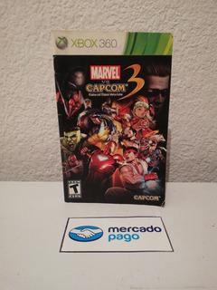 Manual No Es Juego Marvel Vs Capcom 3 Xbox 360 Acepto Cambio