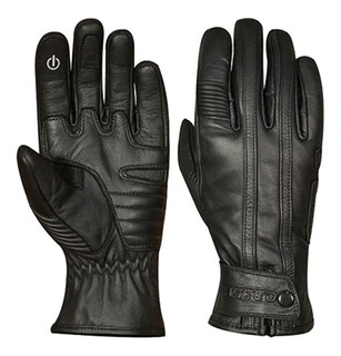 Guantes Para Moto Fassed Fs-501 Cafe Racer Piel Negro